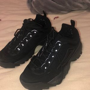 Black fila disrupters